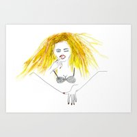 A girl's right to touch herself Art Print