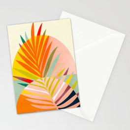 minimal leave tropical spring Stationery Cards