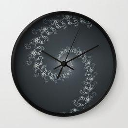 Follow the White Light - Fractal Art Wall Clock