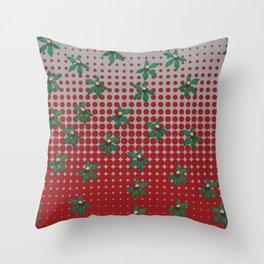 Buckeyes 'n' leaves on scarlet 'n' gray. Throw Pillow