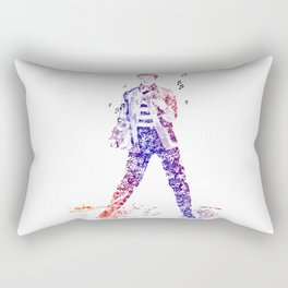 Elvis Presley Jailhouse Rock Text Portrait (Color Gradient) Rectangular Pillow