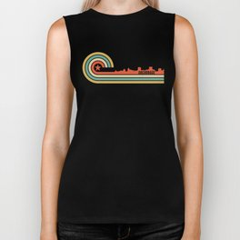 Retro Anchorage Alaska Skyline Biker Tank