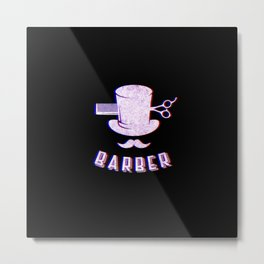 Barber Vintage Classic Barber Retro Distressed Gift Metal Print