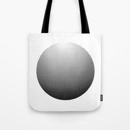 Black ball made of dots Tote Bag
