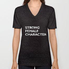 Strong Female Character Unisex V-Neck