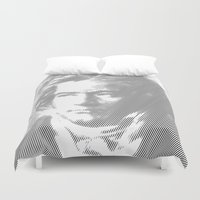 beethoven Duvet Covers featuring Beethoven Portrait  by Cool Prints