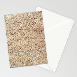 Vintage Smoky Mountains National Park Map (1949) Stationery Cards