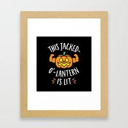 This Jacked-O'-Lantern Is Lit Framed Art Print