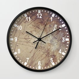 scruffy on  wet ground Wall Clock
