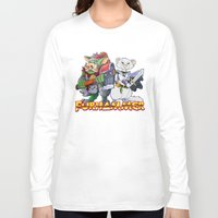 """warhammer Long Sleeve T-shirts featuring Furhammer """"P'Orc and Dark Ferret"""" by the Artisan Rogue"""
