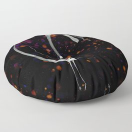 A Tarot of Ink Major Arcana X Wheel of Fortune Floor Pillow