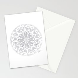 Ultimate Gray Outline Rose Window Stationery Cards