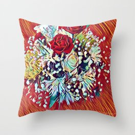 Brighten Your Day Flowers Throw Pillow