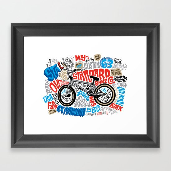 All My Bikes: STA-L Framed Art Print