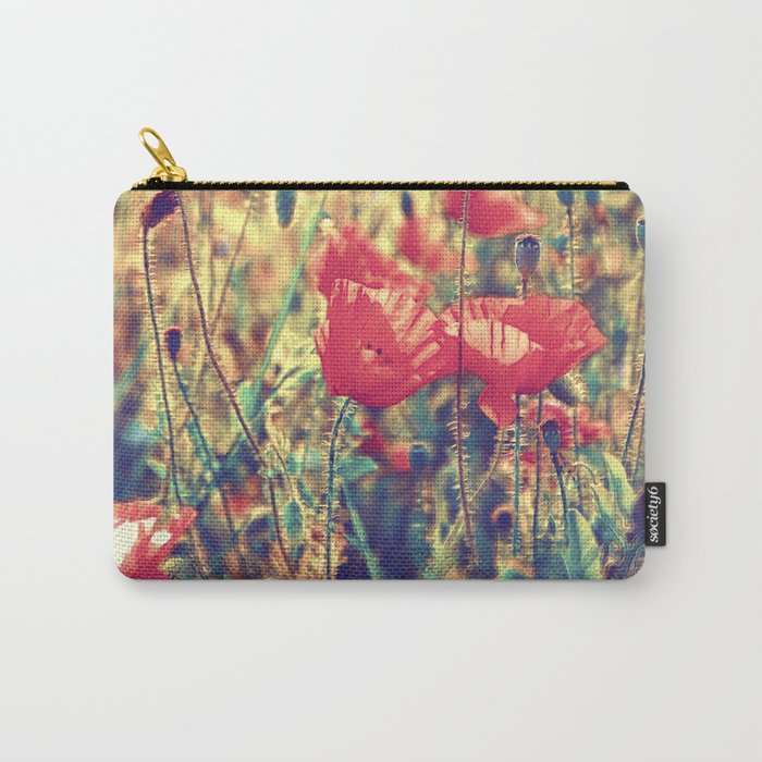 Morning Light - Poppy Field Carry-All Pouch