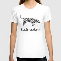 labrador T-shirts featuring Labrador Scribble by Jake Stanton