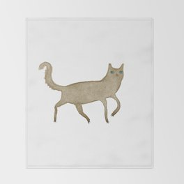Suspicious-Looking Moggy Throw Blanket