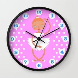 Ballerina in white tutu Wall Clock