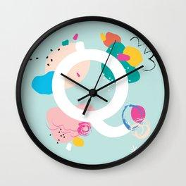Q Monogram Wall Clock