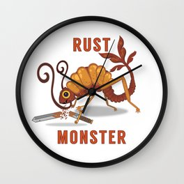 Rust Monster Wall Clock
