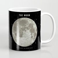 astronomy Mugs featuring The Moon  by Terry Fan