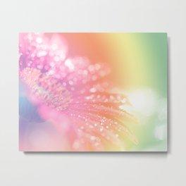 Abstract Rainbow Sparkle Bokeh Metal Print
