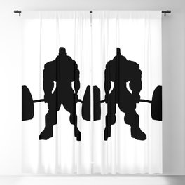 Heavy weight lifting beast Blackout Curtain