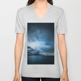 The Arctic - Storm Over Still Water Unisex V-Neck
