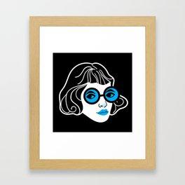 Lookout! Blue Version Framed Art Print