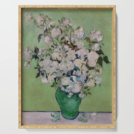 Vincent van Gogh Vase with Pink Roses Serving Tray