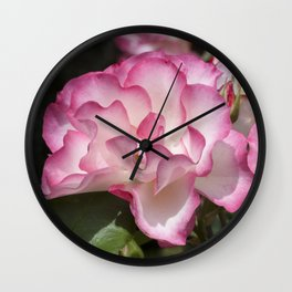 Raspberry Ice Rose Wall Clock