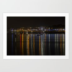 Prince of Wales Pier at Night Art Print