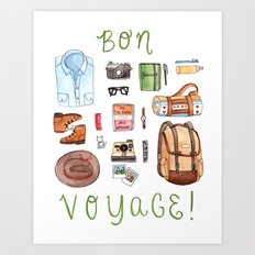 Bon Voyage Art Print