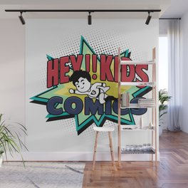 HEY!! KIDS COMICS Wall Mural
