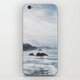 Mist Over Cannon Beach iPhone Skin