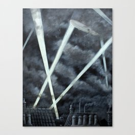 The Zeppelin Menace Canvas Print