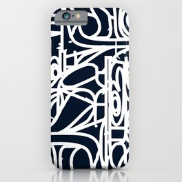 Stained Glass Pattern Black and White iPhone Case