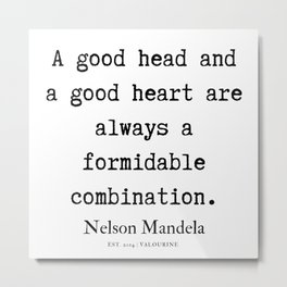 54  | Nelson Mandela  Quotes | 190818 Metal Print