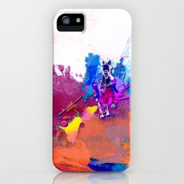 polo abstract red blue iPhone Case