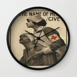Vintage poster - Give Blood Wall Clock