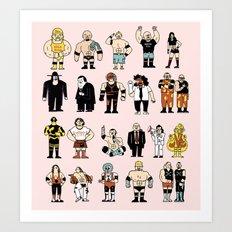 Wrestling Entertainers Poster Art Print