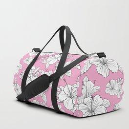 Pink hibiscus pattern Duffle Bag