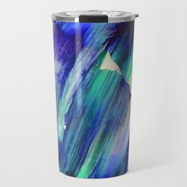 Nordic Lights Abstract Blue/Green Travel Mug