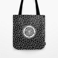 baphomet Tote Bags featuring BAPHOMET by DIVIDUS