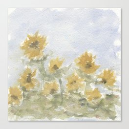 Field of Sunflowers Canvas Print