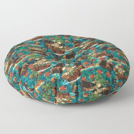 Island Pirates Floor Pillow