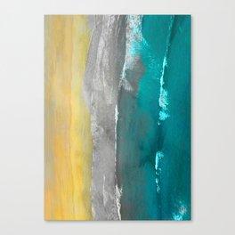 Watercolour Summer beach II Canvas Print