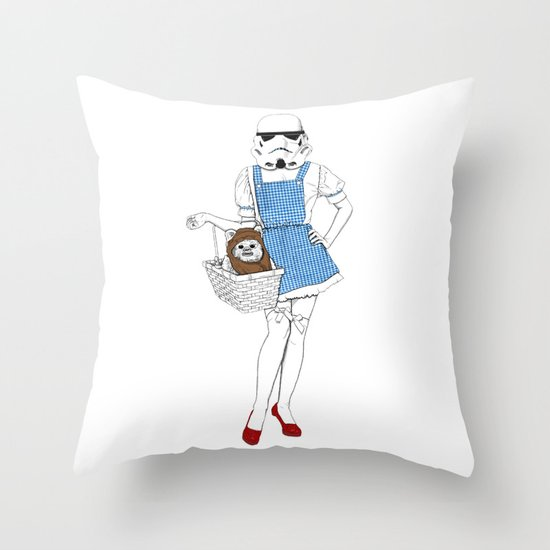 Dorothy trooper Throw Pillow