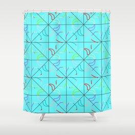 Motif bleu Shower Curtain