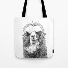 Black and White Alpaca Tote Bag
